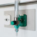 Oxygen flow meter plugged in the green outlet - Flu season